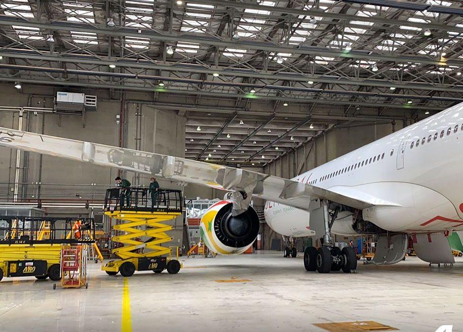 MRO : Alitalia Engineering & Maintenance effectue un C-Check sur un Airbus A330 Neo d'Air Sénégal