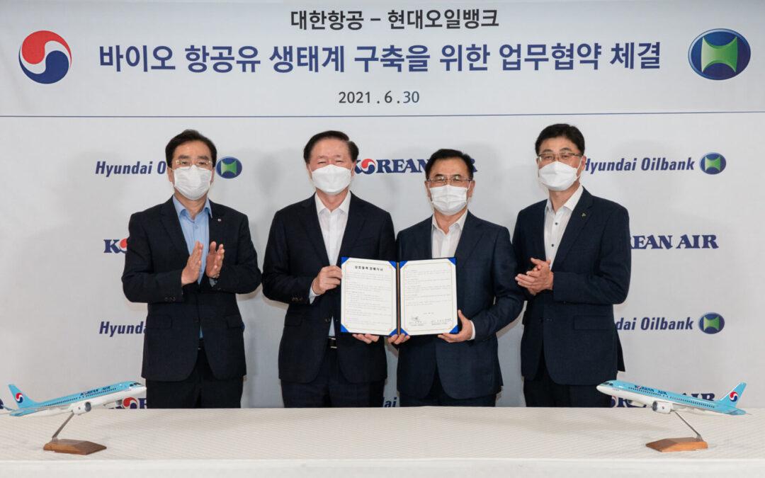 Biocarburant : Korean Air s'associe à Hyundai Oilbank pour adopter un carburant d'aviation durable