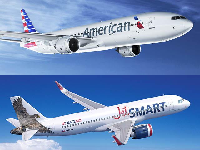 Partenariat : American Airlines investit dans la compagnie chilienne JetSMART