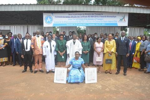 Certification: L'Autorité Aéronautique du Cameroun reçoit deux certificats ISO 9001/2015